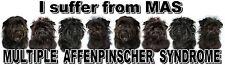 """I Suffer from MULTIPLE  AFFENPINSCHER  SYNDROME"" Dog Car Sticker by Starprint"