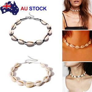Handmade Shell Chain Choker Necklace Beach Style Fashion Jewelry AU