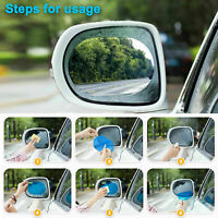 Car Rearview Mirror Rainproof Film sticker Anti-Fog Safety Driving Protective 2P