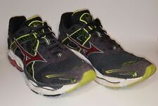 Mizuno Wave Enigma Running Shoes, Anthracite/Lime Punch/Chinese Red, Men's 12