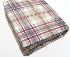 Cuddl Duds Heavyweight Cotton Gray Red Brown Plaid Flannel King Sheet Set New