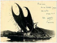 Foto Frage Mich Schiff Rechts Voilé eine Lakotoi Papua / Papua Africa Papua 1952