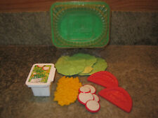 Vintage Fisher Price Fun w Play Food for Little Tikes McDonalds Garden Salad