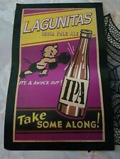 """Lagunitas Ipa India Pale Ale Craft Beer """"It's A Knock Out"""" Poster 19"""" x 12"""" Rare"""