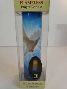 Holy Spirit Devotional Prayer LED Flameless Candle with 180 Hour Battery Life