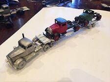 ULRICH HO SCALE 1/87 TANDEM  AXLE CAR CARRIER TRAILER  ALL METAL HOTSHOT