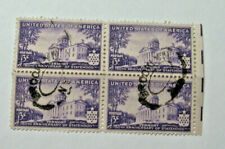 1941 Vermont  150th Anniversary Block of four 3 Cent Stamp