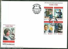 MOZAMBIQUE 2014 80th MEMORIAL  ANNIVERSARY OF MARIE CURIE SHEET  FDC