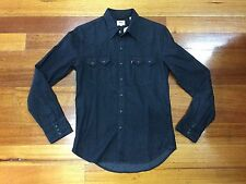 Levi's Men's Denim Sawtooth Long Sleeve Shirt Classic Fit Color Black Small BNWT