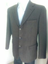 GIACCA UOMO INVERNALE MARRONE 100%WOOL TOM BEST TG 46