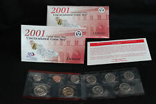 2001 Denver UNITED STATES MINT UNCIRCULATED COIN SET W/STATE QUARTERS