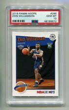 2019-20 PANINI HOOPS ZION WILLIAMSON #296 ROOKIE RC PSA 10 NEW ORLEANS PELICANS