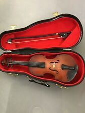Vintage TURN-OF-THE-CENTURY MINIATURE VIOLIN & BOW IN CASE SALESMAN SAMPLE Toy