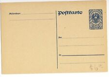 Austria 1920 50h blue Postal Stationery Post Card Mint
