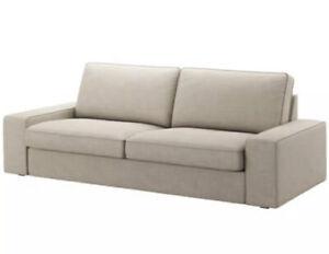 IKEA KIVIK Sofa Cover Slipcover HILLARED BEIGE 903.488.74 Open