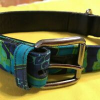 GUCCI Blue Dog Collar 43-48cm & Leash 90cm for Large Dog mint no box