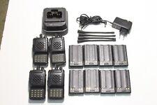 A REPROGRAMMER : Lot de 4 Radio VHF VERTEX VX-800V + 1 chargeur & 8 batteries (J