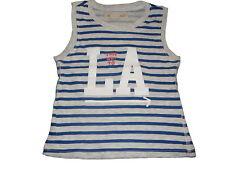H & M tolles Top Gr. 92 blau-grau gestreift mit Schriftzugdruck !!