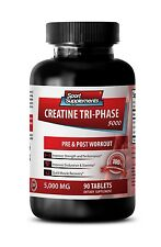 Creatine Monohydrate Tablets - Creatine Tri-Phase 5000 mg - Boost Muscle Mass 1B