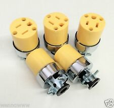 5pc Female Extension Cord Electrical Wire Repair Replacement Plug End Set
