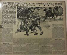 1905 Newspaper Pg #Lj7476- Texas Girl, Miss Fanny Murion, Big Game Hunter