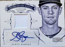 SCOTT BARNES 2012 National Treasures Dual AUTO Autograph Game Used Jersey SP /99