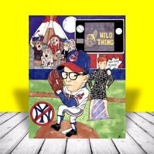 WILD THING in Cleveland Indians jersey POSTER ART, charlie sheen, baseball movie