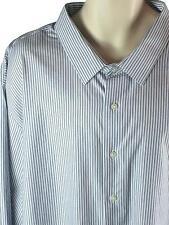 Mens Big & Tall Classic Fit Striped Dress Shirt Size 4XB Gray White Apt. 9 NWT