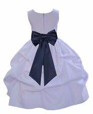 WHITE BRIDESMAID FORMAL WEDDING FLOWER GIRL DRESS 12-18M 2/2t 3t 4/4T 5/6 7/8 10