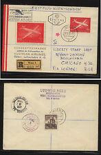 Austria  632  plane stamp on cachet registered cover           EXL0331