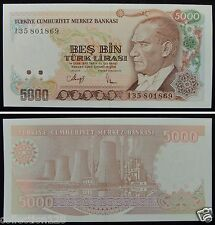 Turkey Paper Money 5000 Lirasi UNC