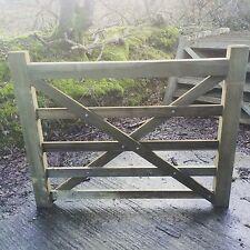 4ft 5 Bar Wooden Diamond Braced Farm Field Entrance Pathway Gate 1.2m 120cm