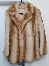 Vintage Real Fur  Rabbit Coney Fur Caramel Size 10