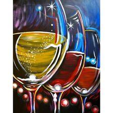 Full Drill 5D Diamond Painting Wine Glass Cross Stitch Kit Embroidery Home Art