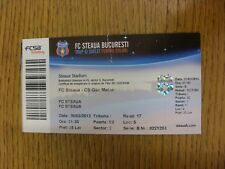 26/03/2012 Ticket: FC Steaua v CS Gaz Metan (small tear but complete, folded). A