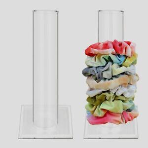 Scrunchies Holder Stands 10 Inch Acrylic Storage Racks Jewelry Display Organizer