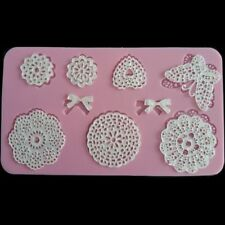 Lace Mat Butterfly Sugar Fondant Craft Mould Cake Decorating Silicone Mold DIY