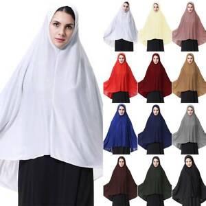 Arab Muslim Womens Modest Khimar Hijab Jilbab Niqab Prayer Abaya Overhead Burqa