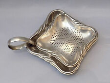 Antique Silver Plate Tea Strainers