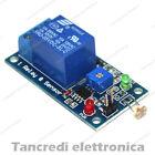 Modulo scheda 1 relè 5V 10A relay canali fotoresistivo fotoresistenza ldr shield