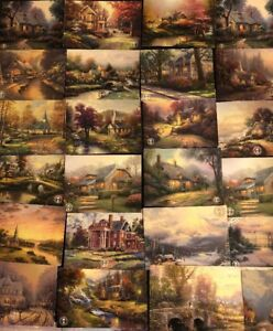 100 Thomas Kinkade Postcards Dealer Wholesale Lot