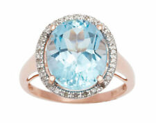 Anillos de joyería con gemas de oro rosa de 10 quilates diamante