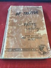 CAT Caterpillar D8 Tractor Parts Catalog 2U1 to 2U15000 Inclusive Copyright 1952