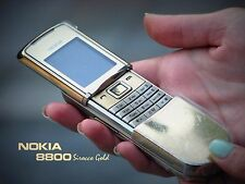 ORIGINAL Nokia 8800 Sirocco Gold 100% UNLOCKED GSM Cellular Phone Warranty FREE