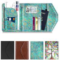 Passport Holder Travel Wallet Credit Card Ticket Case Cover Organizer Leather