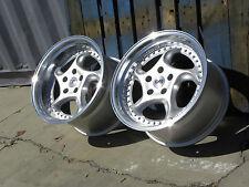 18x9.5 18x11 5x120 German Turbo Twist Style Wheels Rims BMW E39 E38 M5 M6 E46