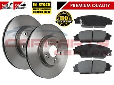 FOR HONDA CIVIC FN2 FN23 2.0 K20Z4 FRONT BRAKE DISCS PADS PAD 07-12 300mm
