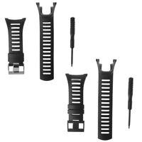Soft Black Rubber Replacement Men's Band Watch Strap For SUUNTO Ambit 1/2/3