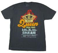 Queen Tokyo Japan Crown Grey T Shirt New Official Band Merch Soft