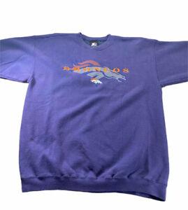 Starter Vintage Denver Broncos Sweatshirt - Men's Size Large